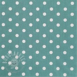 Cotton fabric Dots fresh sage