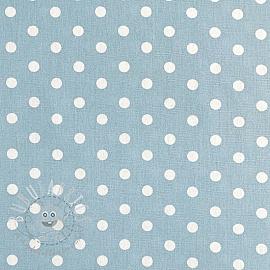 Cotton fabric Dots light blue