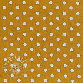 Cotton fabric Dots ochre