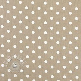 Cotton fabric Dots sand