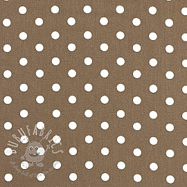 Cotton fabric Dots taupe