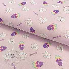 Cotton fabric Dreamy Minnie digital print