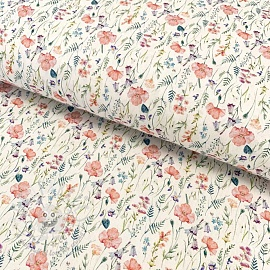 Cotton fabric Dulce amapola digital print