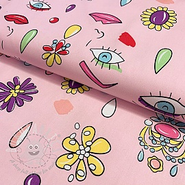 Cotton fabric Face pink
