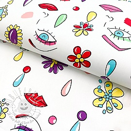Cotton fabric Face white