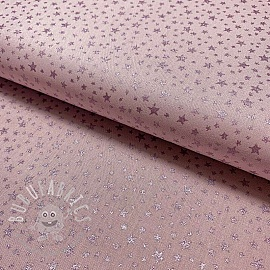 Cotton fabric Glitter star lilac