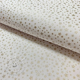 Cotton fabric Glitter star off white