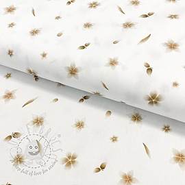 Cotton fabric Golden nature digital print