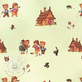 Cotton fabric Hansel and Gretel