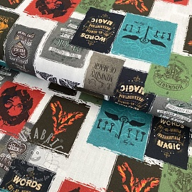 Cotton fabric HARRY POTTER Ministry of magic digital print 2 nd class