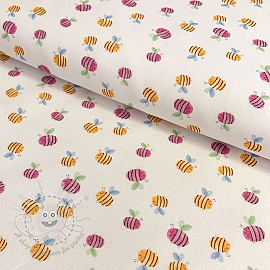 Cotton fabric KODA Bees unico digital print