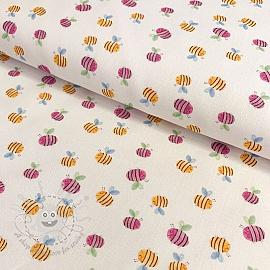 Cotton fabric KODA Bees unico digital print