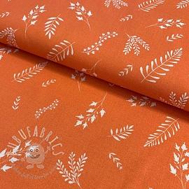 Cotton fabric KODA Herbs naranja digital print
