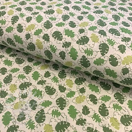 Cotton fabric Leaf green