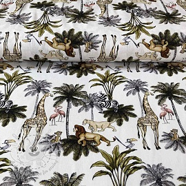 Cotton fabric Lion king Jungle digital print