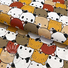 Cotton fabric Little Bears sand