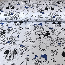Cotton fabric Mickey and friend Donald digital print