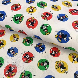 Cotton fabric Mickey moods digital print