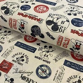 Cotton fabric Mickey Mouse digital print