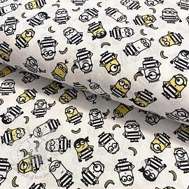 Cotton fabric MINIONS Convict digital print