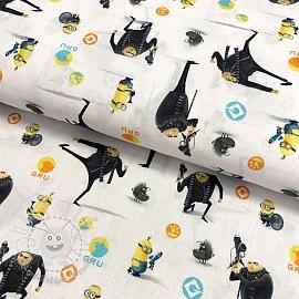 Cotton fabric MINIONS Gru digital print