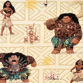 Cotton fabric Moana