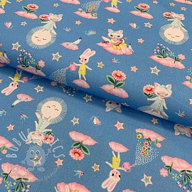 Cotton fabric Moon garden