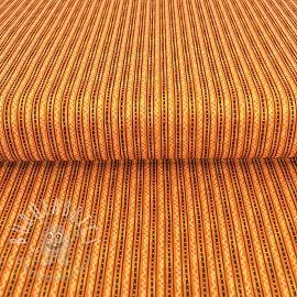Cotton fabric MOOSE ON THE LOOSE Stripe orange
