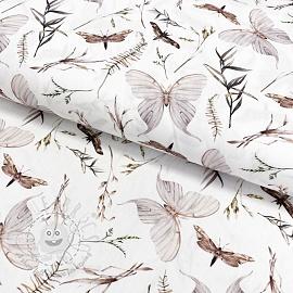 Cotton fabric Moth digital print