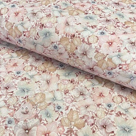 Cotton fabric Naima red digital print