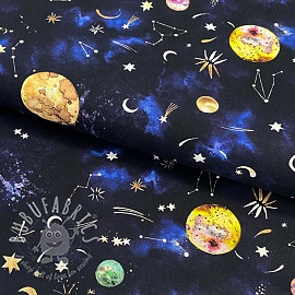 Cotton fabric New galaxy navy digital print