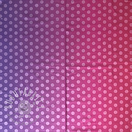 Cotton fabric PARTY LIKE A UNICORN Ombre dots purple pink 2nd class