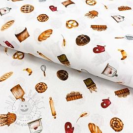 Cotton fabric Pastry digital print
