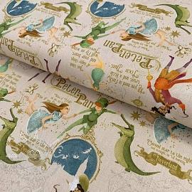 Cotton fabric Peter Pan sand digital print