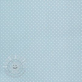 Cotton fabric Petit dots light blue