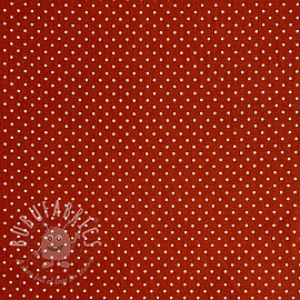 Cotton fabric Petit dots terra