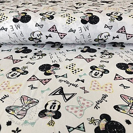 Cotton fabric Petit Minnie digital print