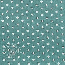 Cotton fabric Petit stars fresh sage