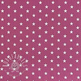 Cotton fabric Petit stars mauve