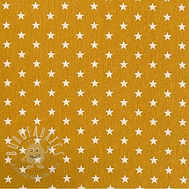 Cotton fabric Petit stars ochre