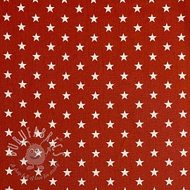 Cotton fabric Petit stars terra