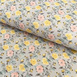 Cotton fabric Petite gerber amarillo digital print