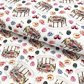 Cotton fabric Pie digital print