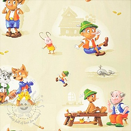 Cotton fabric Pinocchio