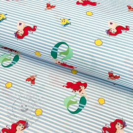 Cotton fabric Princess Ariel digital print