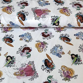 Cotton fabric Princess Dreams digital print