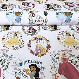 Cotton fabric Princess Flowers digital print