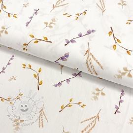 Cotton fabric Purple twig digital print