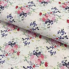 Cotton fabric Rosai fuchsia digital print