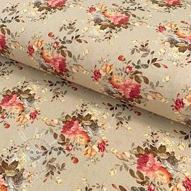 Cotton fabric Rosai tierra digital print